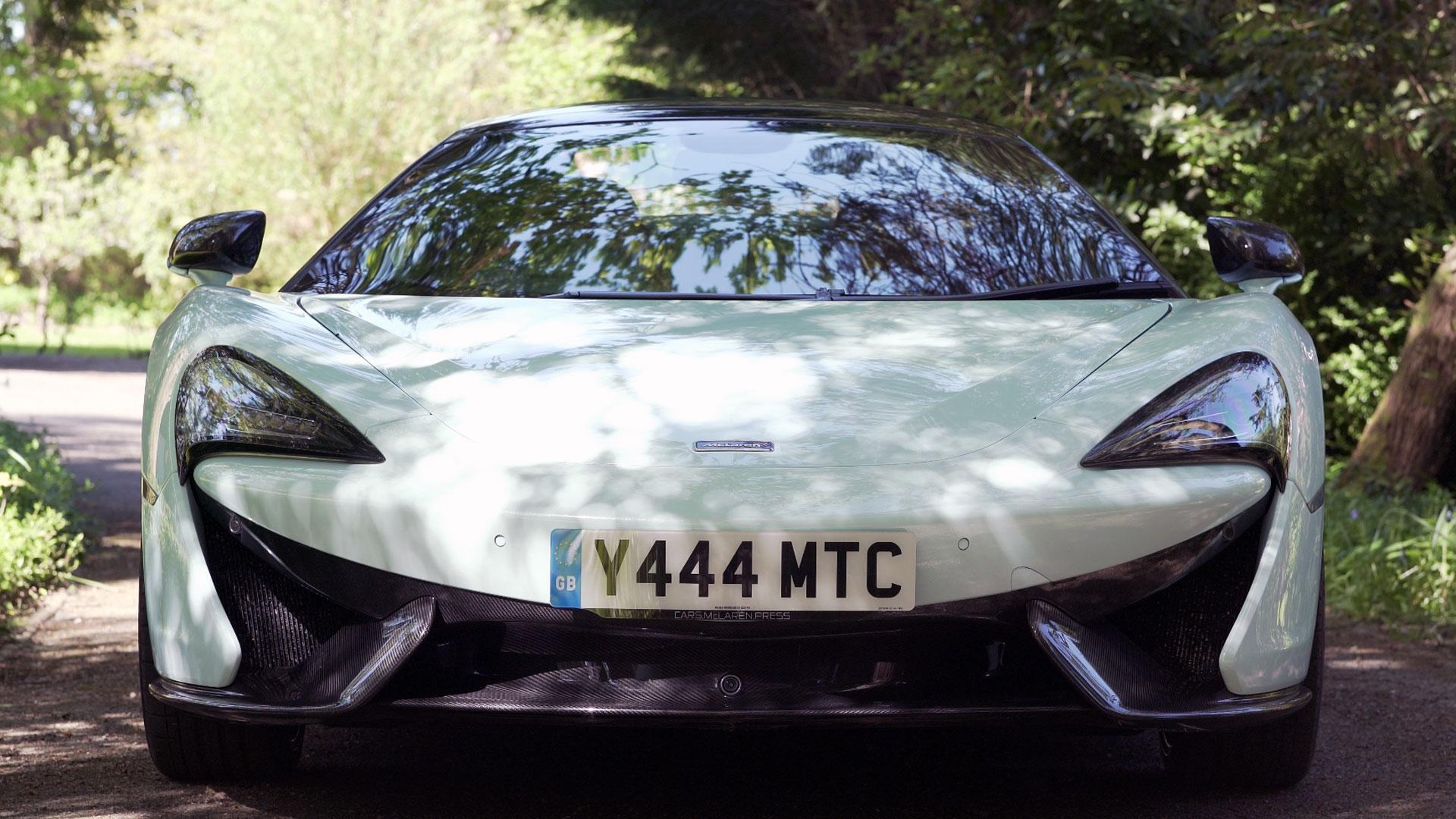 Filming a car video: Main image of a McLaren 570S in Murawai White