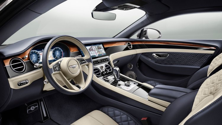 Bentley Continental GT review (2019): Interior, including the infotainment display and seats