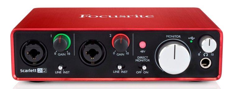 Focusrite Scarlett 2i2 Studio audio interface