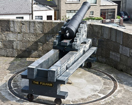One of the cannon outside the tower at the Millmount Fort.