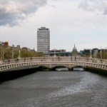 The Liffey passing the Ha'penny Bridge  (source: wikipedia commons)