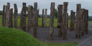 The wooden henge (reconstructed) at Knowth. (Photo: atriptoIreland.com)