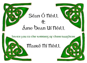 Gaelic language wedding invite