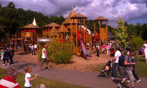 The enormous main playground at Tayto Park