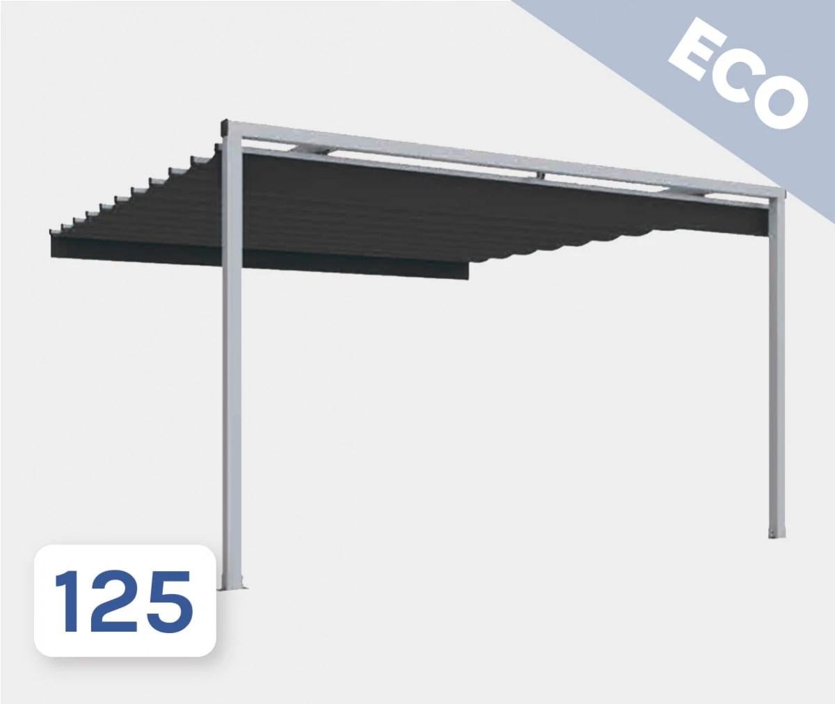 pergola toile retractable sunvision 2 eco adossee atrium concept