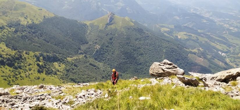 Comienzo de la escalada