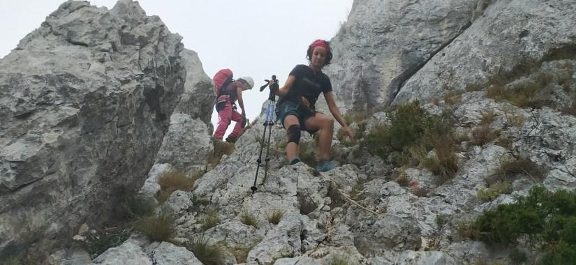 Descenso de la cresta