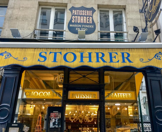 Storefront of Stohrer, the oldest patisserie in France