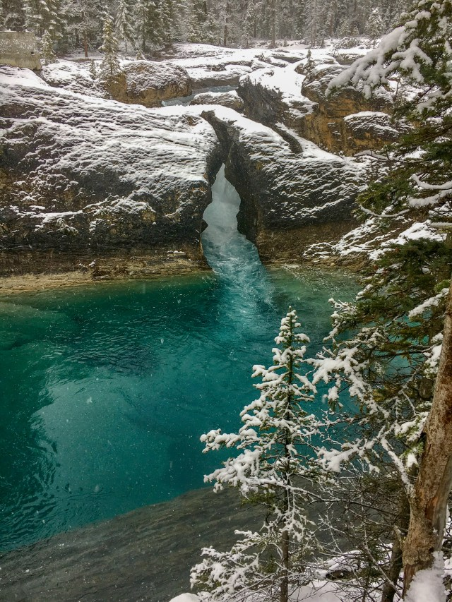 The Canadian Rockies' Natural Bridge