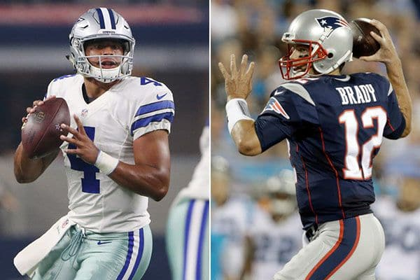 Who's Going To Throw For More Yards Odds: Tom Brady Or Dak Prescott?