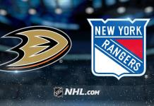 New York Rangers vs. Anaheim Ducks