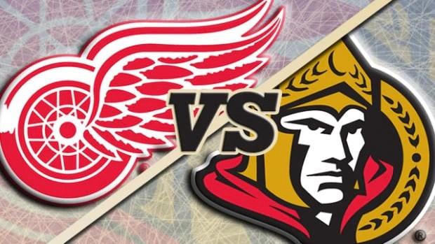 Ottawa Senators at Detroit Red Wings