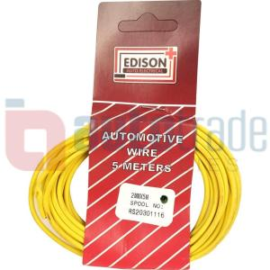 AUTO CABLE 2.0mm (5mtr-YELLOW)