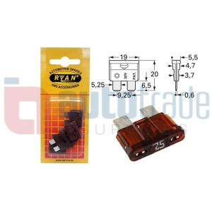 RYAN BLADE FUSE STD 7.5AMP 5PC