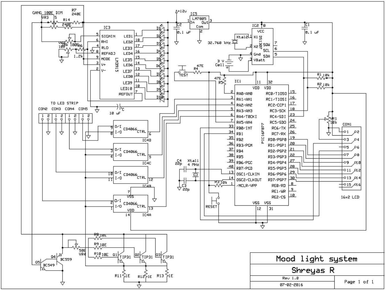 Microcontroller Based Mood Light All Things S C I E N C E