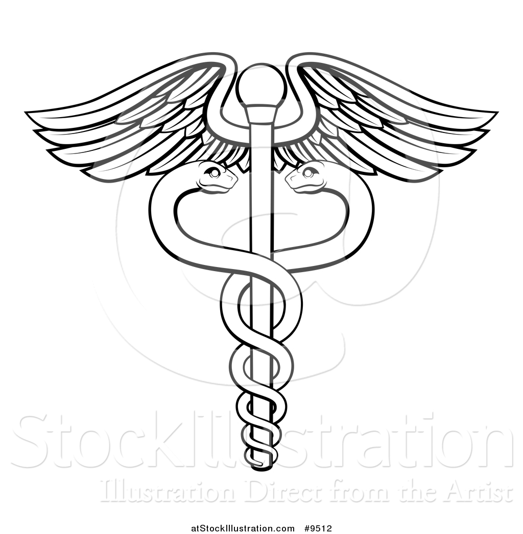 Vector Illustration Of A Black And White Lineart Medical