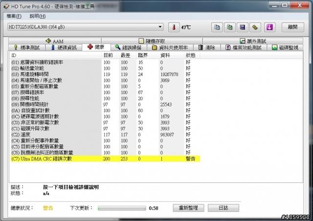 C7 Ultra DMA CRC 錯誤次數? - Mobile01