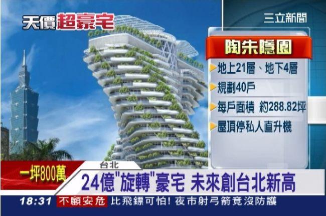 24億「旋轉」豪宅一坪上看800萬 有錢不一定買得到 | 財經 | 三立新聞網 SETN.COM