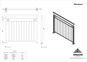 Marquess balustrade tech sheet