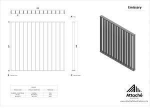 Emissary balustrade tech sheet