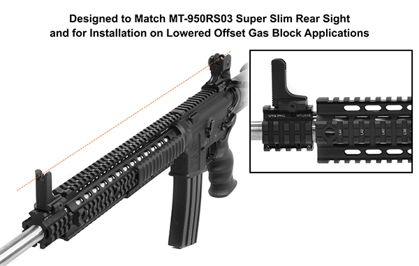 UTG AR15 Super Slim Fixed front sight 6