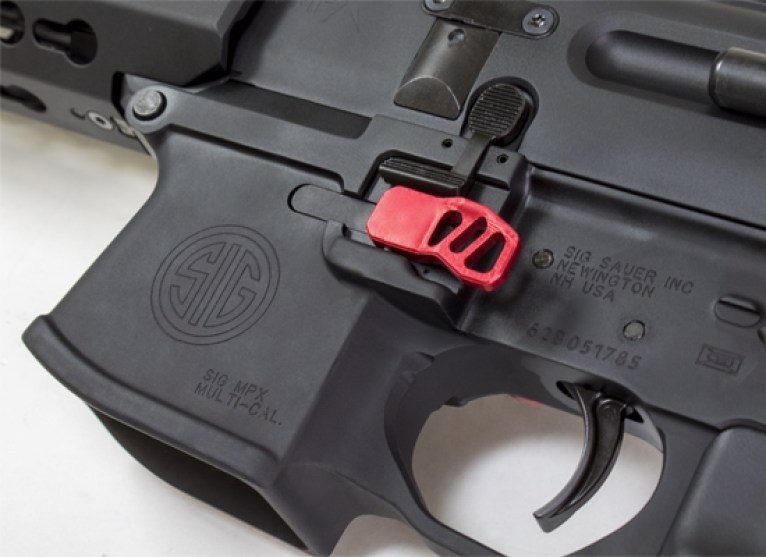 odin works sig mpx extended magazine mag release ACC-MPX-MR 2