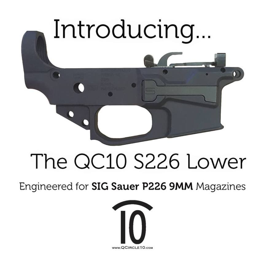 quarter circle 10 sig p226 qc10 s226 lower receiver 4
