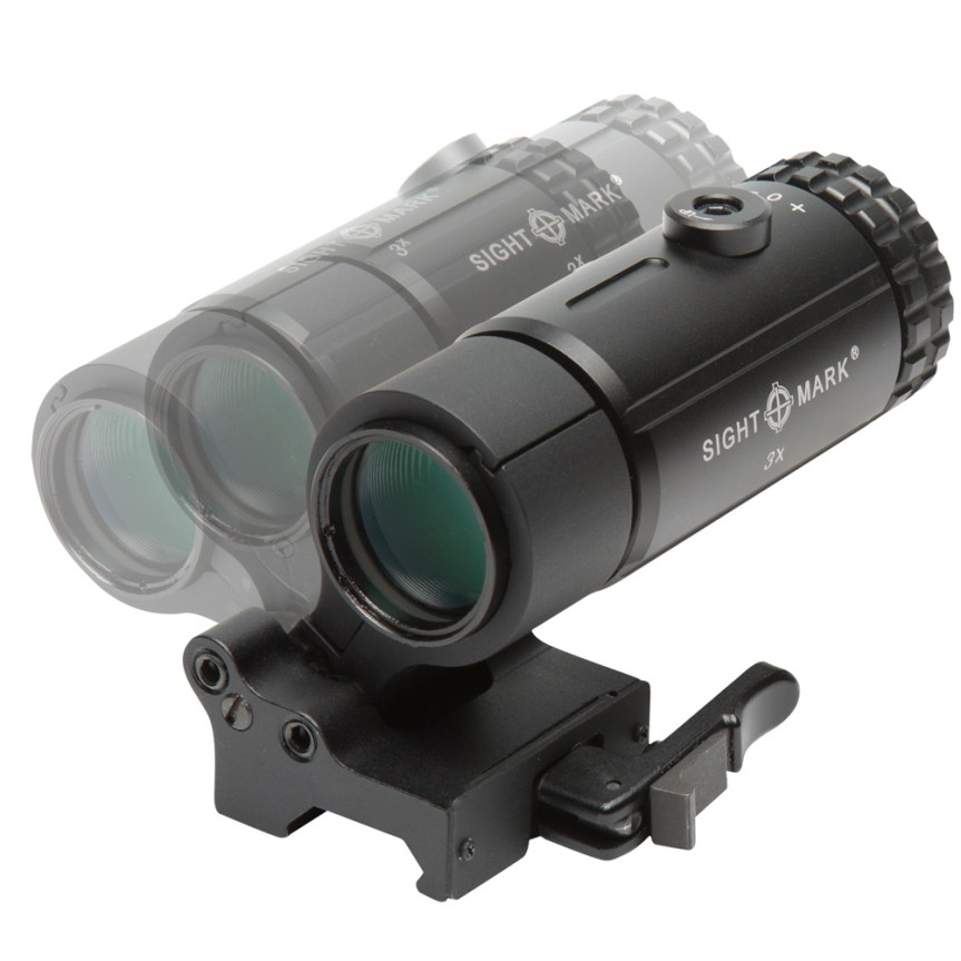 T-3 Magnifier with LQD Flip to Side Mount SM19063 7