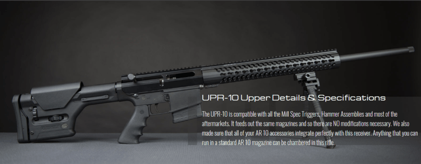 uintah precision upr-10 bolt action ar10 upper receiver assembly 5