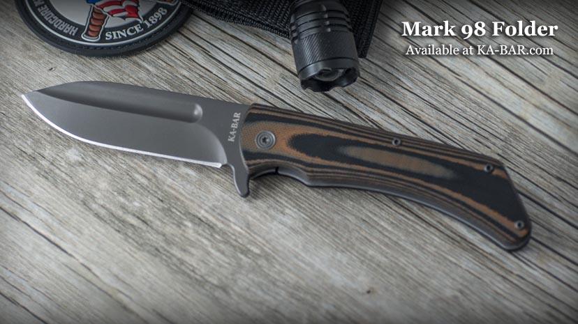 kabar model 3066 mark98 folder knife . flipper pocket knife . 1