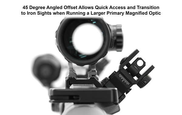 leapers utg ACCU-SYNC™ 45° ANGLE FLIP UP IRON SIGHTS MT-745 MT-945 3