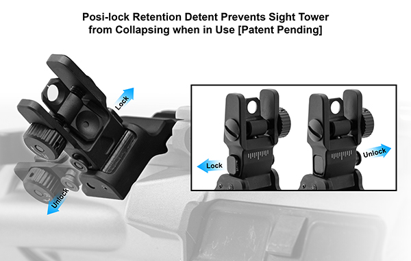 leapers utg ACCU-SYNC™ 45° ANGLE FLIP UP IRON SIGHTS MT-745 MT-945 4