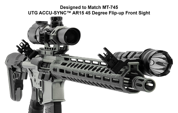 leapers utg ACCU-SYNC™ 45° ANGLE FLIP UP IRON SIGHTS MT-745 MT-945 7