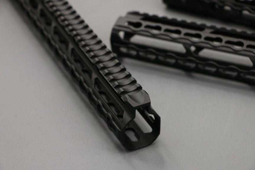 v-seven weapon systems mangesium handguards. HYPLIGHT 7KM 7inch handguard lightest handguard 2