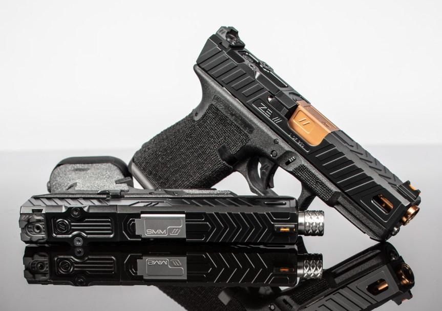 zev techonolgies glock slide. Raven glock slide. custom glock slide. slide serrations. 4