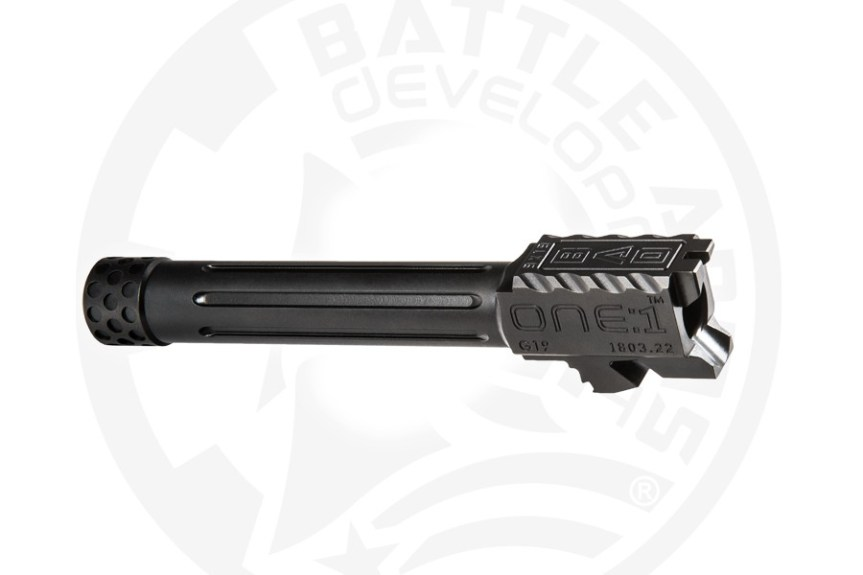battle arms development one 1 glock barrel. custom glock barrel threaded glock barrel BAD-BBLG19SSFT 5