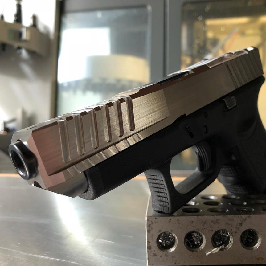dv8 dynamics glock 26l glock 27l glock 26 long slide cut the grip on glock 19 to 26 a