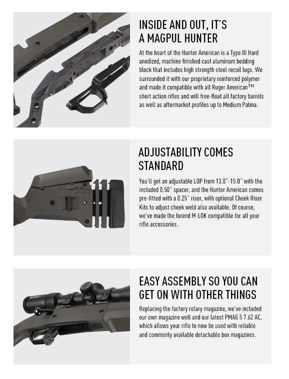 magpul hunter american stock ruger american sniper rifle magpul upgrade markesmen rifle tactical sniper 9