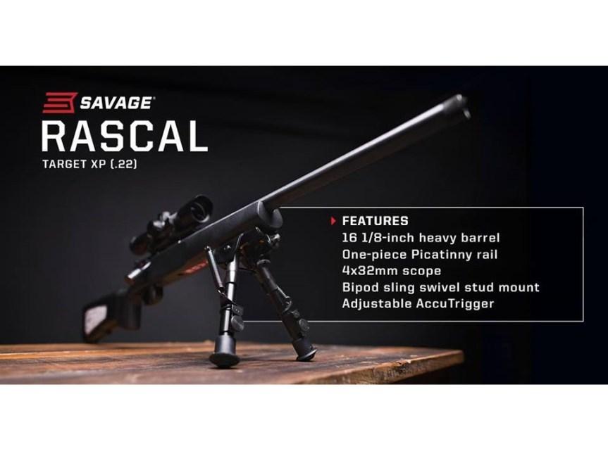 savage arms 22lr youth rifle rascal target xp 22lr micro rifle 13836 a