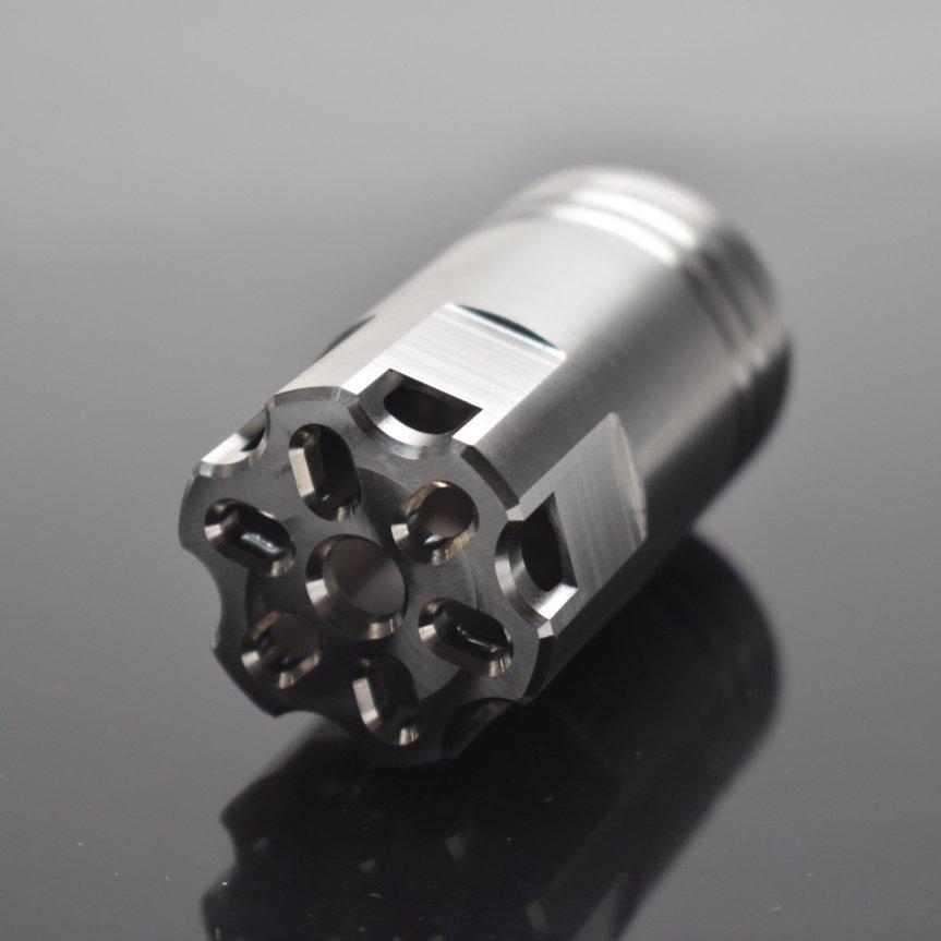 venom defense linear compensator titanium compensator titanium muzzle brake 9mm muzzle device ar15 titanium ar10 titanium black rifle ak47  1.jpg