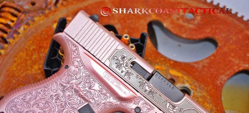 Shark coast tatical pink glock n roses girly glock pink gun pink pistol pink rifle princess pistol attackcopter 3