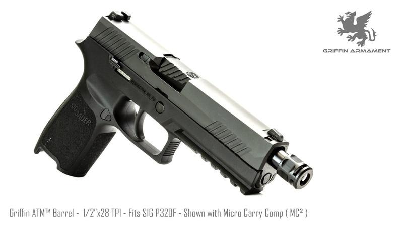 griffin armament atm threaded glock barrels sig p320 threaded barrels and compensator 3
