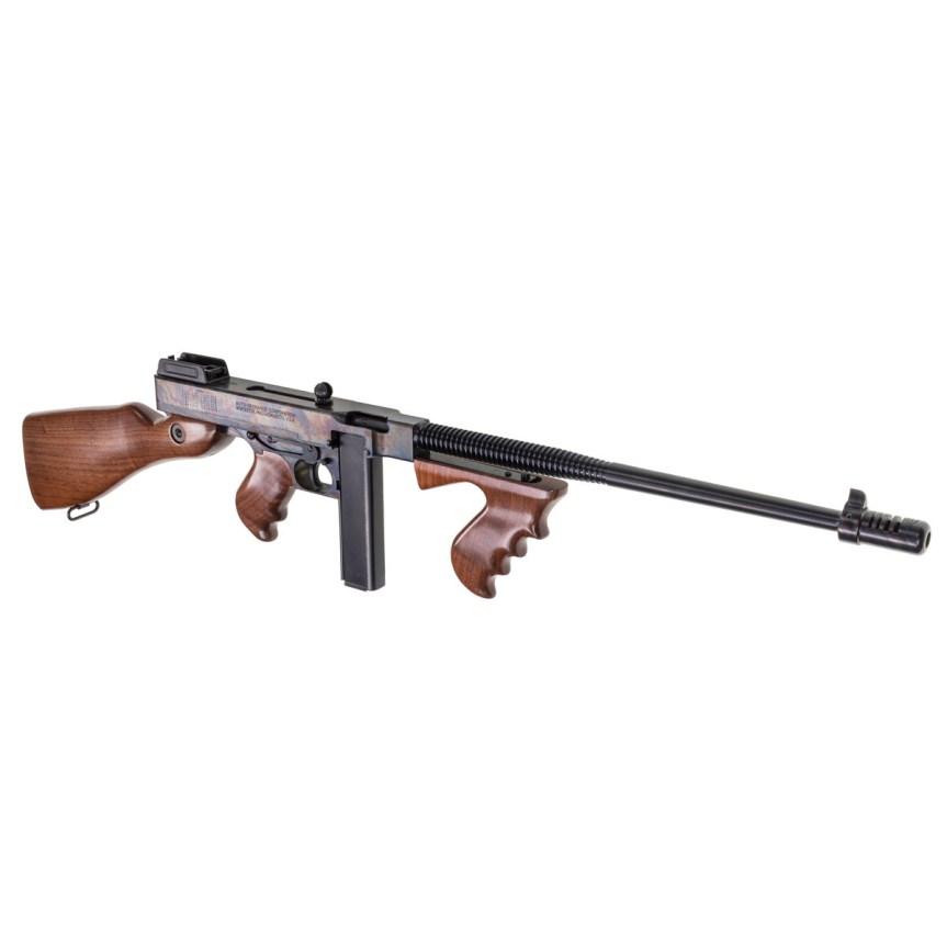 thompson auto ordnance 1927a-1 thompson rifle tommy gun deluxe carbine 45 cal case hardnes rainbow finish gangster gun 2.jpg
