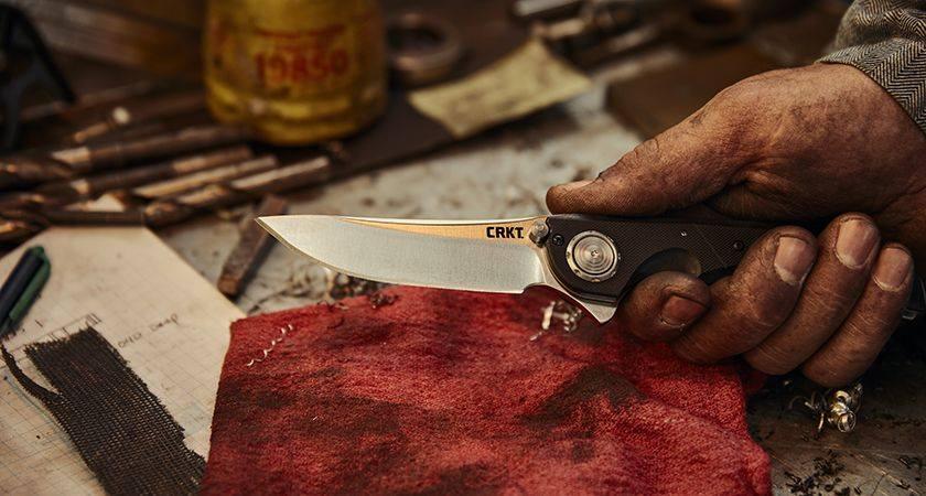 crkt seismic folding knife with deadbolt locking system edc pocket knife everyday carry bushcraft 1