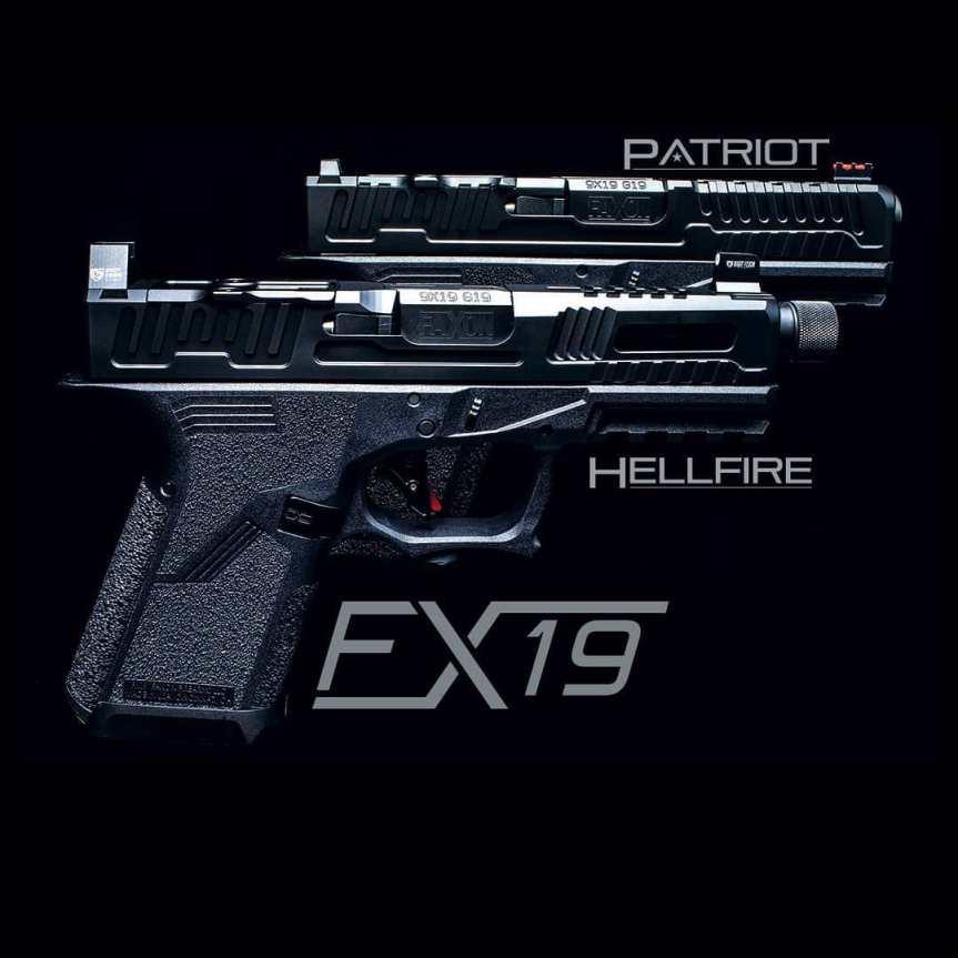 faxon firearms fx-19 pistol custom glock patriot hellfire custom guns glock slide cuts for the holosun