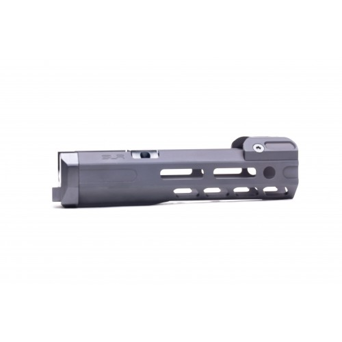 slr rifleworks 6.5 mlok ion ak ext handguards aluminum forend ak47 draco pistol with mlok forend tuck under 3