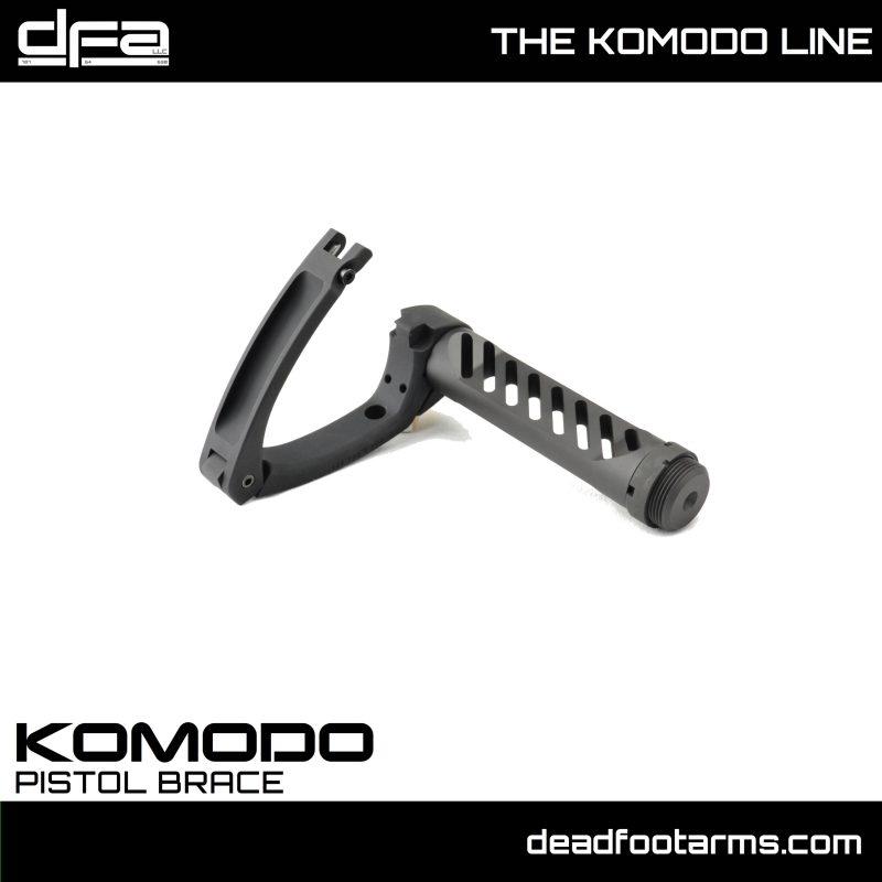 dead foot arms komodo tail hook adapter gear head works tail hook pistol brace onto buffer tube 3