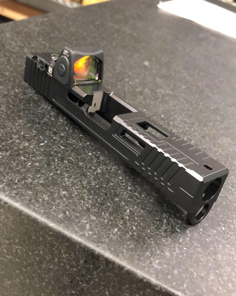 rocket city stippling saturn 4 2.0 custom glock slides rmr cut glock slide stippling glock custom pistols in 9mm  1.jpg