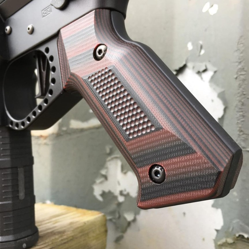 doublestar corp stronghold pistol grip aluminum ar15 grip made of g10 MLOK 2