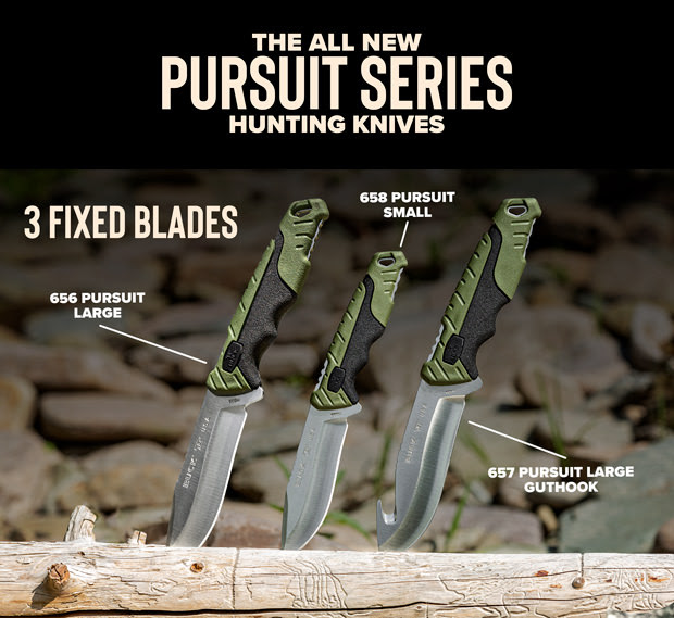 buck knives pursuit series hunting knives gut hook skinner 0656grs 1